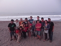 The whole crew at sawarna beach