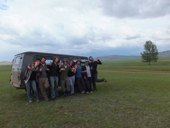 The crew I toured central Mongolia with