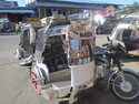 The tricycle taxis in the Philippines are often made up to look like Roman chariots.