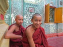 Two young monks on top of mandalay hill