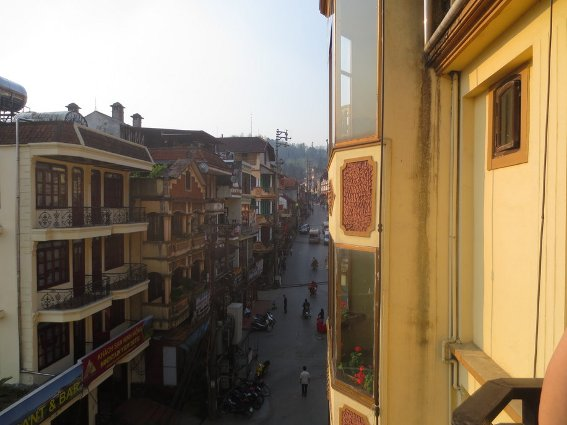 View up the main street in Sapa